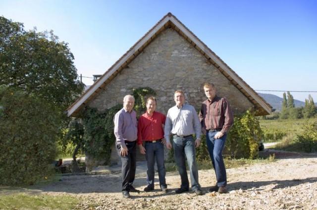 Gilbert PERRIER avec ses 3 fils